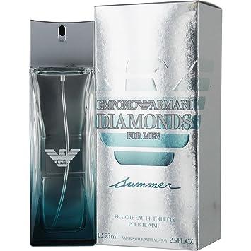 modische Muster kostenloser Versand 2018 Schuhe Giorgio Armani Emporio Armani Diamonds Summer Eau de Toilette Spray for  Men, 2.5 Ounce