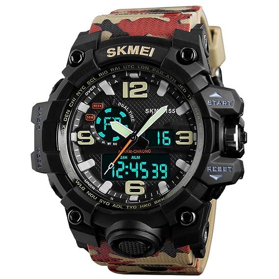 Reloj Militar Hombre Shock Estilo de La Selva de Camuflaje Acuático 50M Reloj Deportivo Al Aire Lbre Cronómetro Deporte Color de Camuflaje 2018 Moda: ...