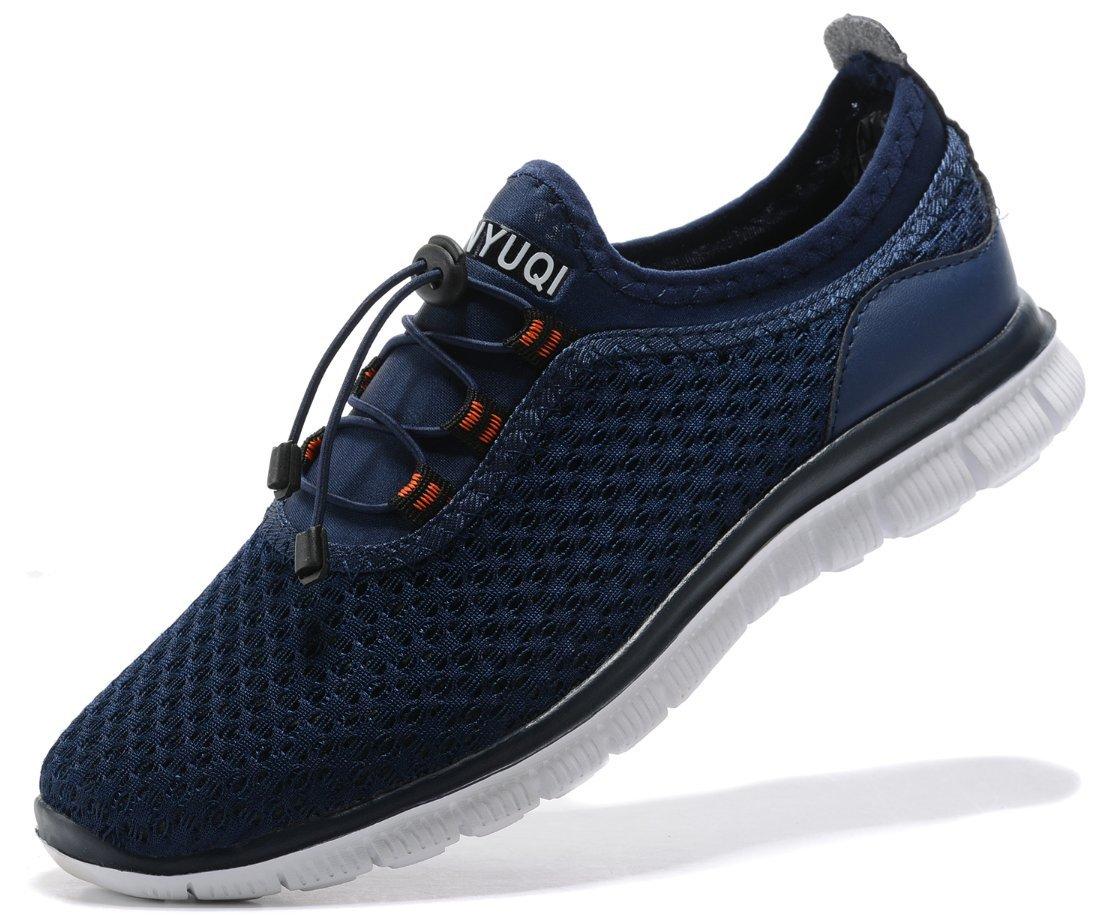 SIBARU Women's Mesh Lightweight Athletic Running Shoes Comfortable Casual Sneakers (41 M EU/10.5 B(M) US, Blue)
