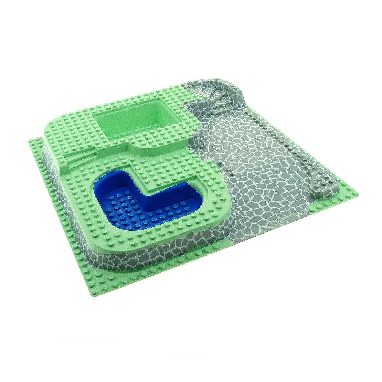 1 x Lego 3D Bau Platte mint hell grün 32 x 32 City Vila mit Pool 6092 6416 Paradise Stranspalast Poolside D02