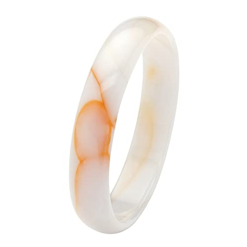 Genuine White Agate Bangle Bracelet 13mm , 8