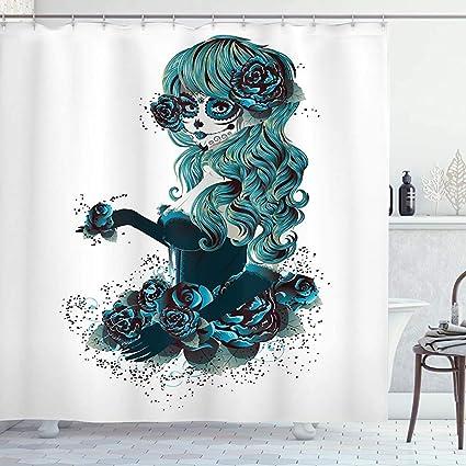 acheter rideau de douche tete de mort online 11
