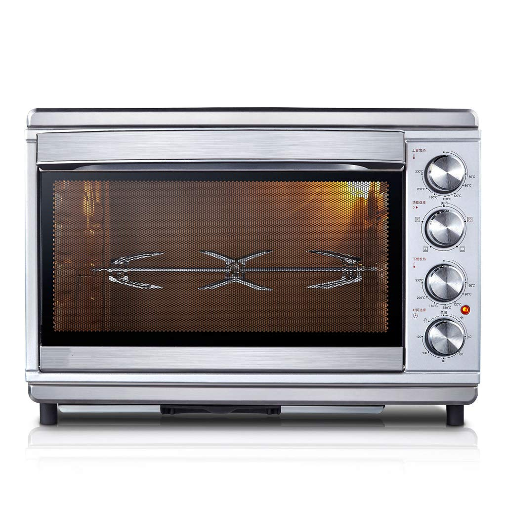 Household Baking Cake Electric Oven 40 Liters Large-Capacity,Multiple Cooking Functions Low Temperature Fermentation,4 Knob Simple Operation,1800w