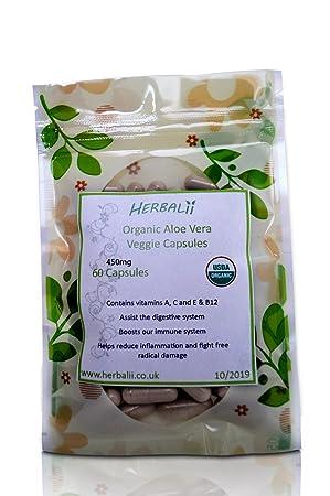 Capsulas di Aloe vera (Vegetariano) | Certificado Orgánico ...