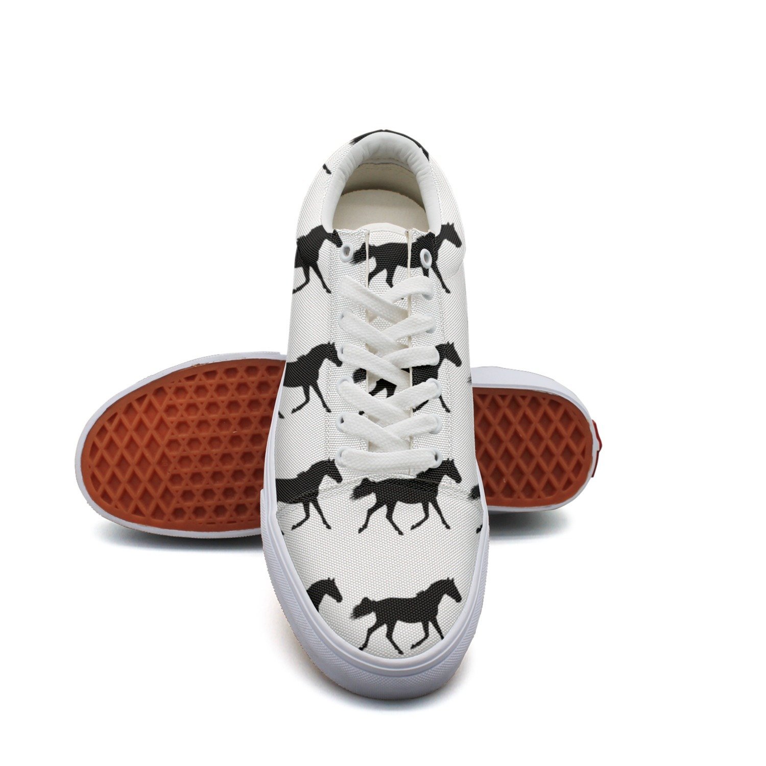 Black Horse Silhouette Women/¡s Casual Shoes Sneakers Footwear Customize New Comfortable