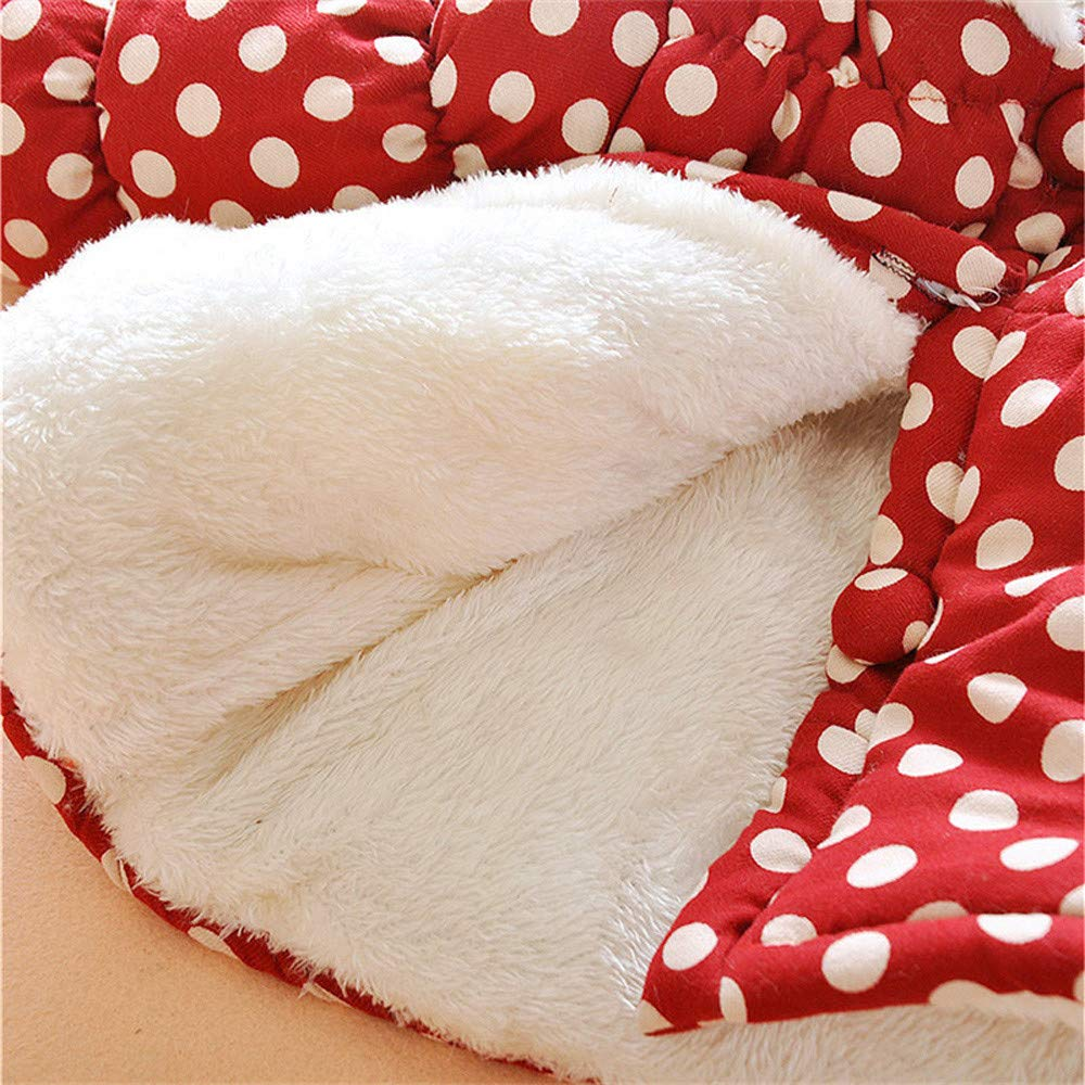 Winter Warm Cute Down Coat Jacket for Baby Girls,Rabbit Polka Dot Adorable Snow wear Outwear Hot Clothes