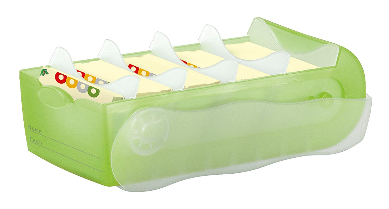 disponibile in vari colori Grigio lucido formato A7 Schedario da tavolo Han Croco