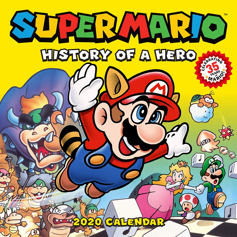 Super Mario Retro 2020 Wall Calendar: History of a Hero by Abrams