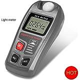 Light Meter, GoerTek Digital Luxmeter Illuminance Meter Handheld Actionometer Foot Candle Meter High Accuracy(±4%) with LCD Display One 9V Battery Included Range 0.1 - 200,000 Lux/0.01 - 20,000 Fc