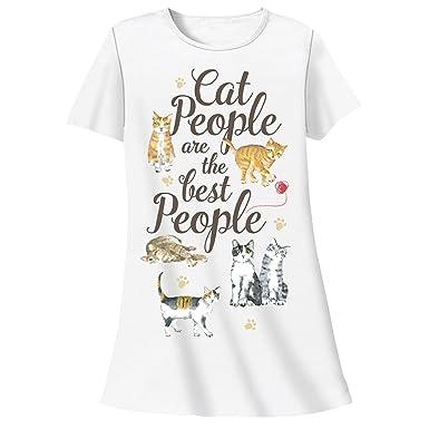 Amazon.com: relevantes de la mujer gato camisón diseño de ...