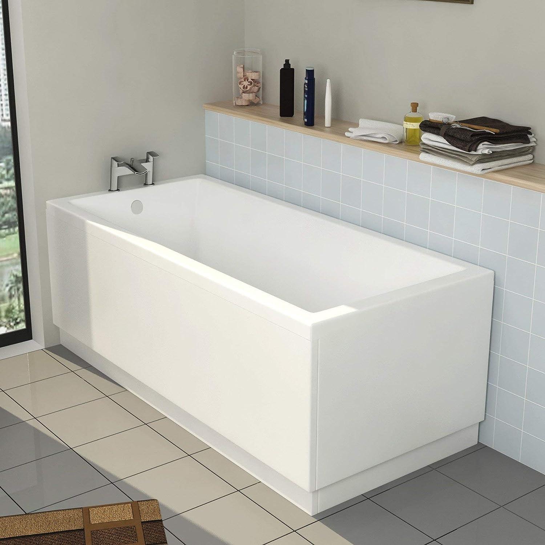 Cesar 1700 x 700 Designer Straight Single Ended Bath with MDF Front Panel Bathroom Bathtub