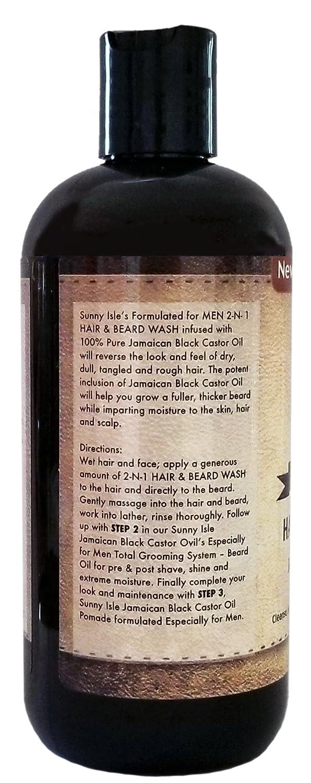 SUNNY isla Jamaica negro Castor Oil para pelo y barba Wash, 12 oz: Amazon.es: Salud y cuidado personal