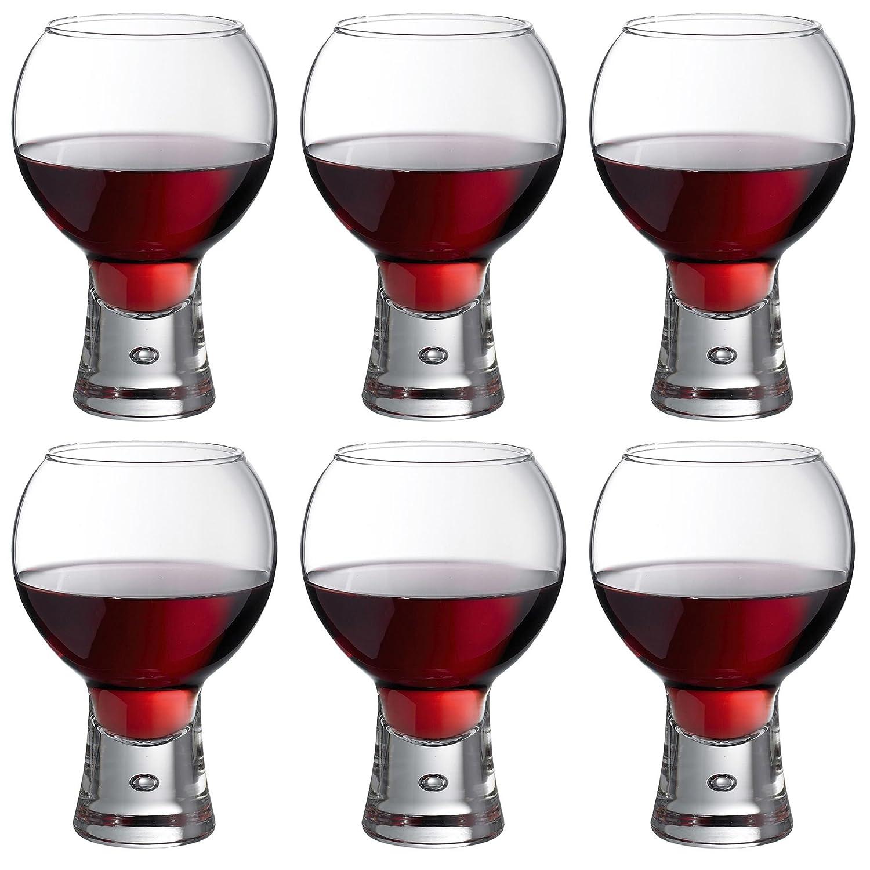 Durobor Alternato Short Stem Bubble Base Wine Gin Glass - 540ml - Pack of 6 Glasses