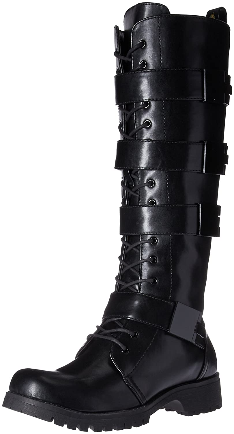 Volatile Women's Heartbreak Combat Boot B06XHBTJTG 6.5 B(M) US|Black