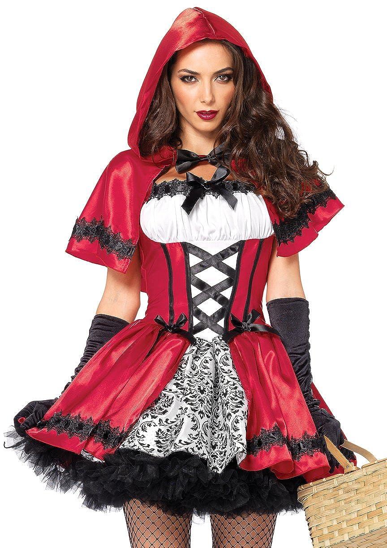 Leg Avenue Women's 2 Piece Gothic Red Riding Hood Leg Avenue Costumes