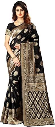 Women's Banarasi Silk Saree Indian Wedding Ethnic Sari & Unstitch Blouse Piece PARI 21