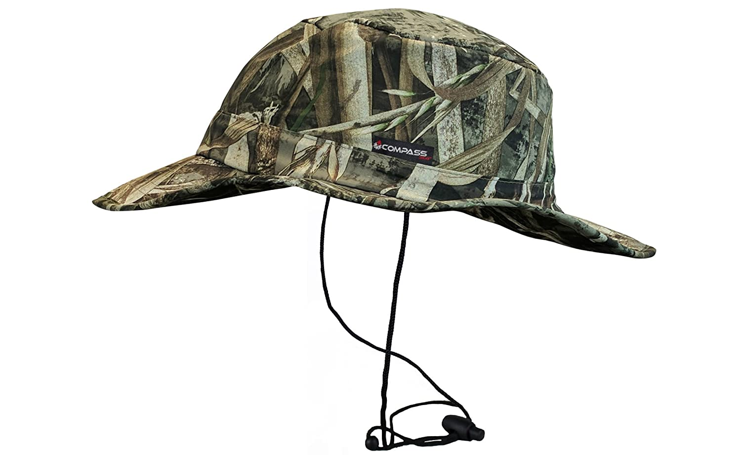 6f7bbac36a0 Amazon.com   COMPASS 360 Waterproof HydroTek Camouflage Bucket Hat (Mossy  Oak Bottomland)   Sports   Outdoors