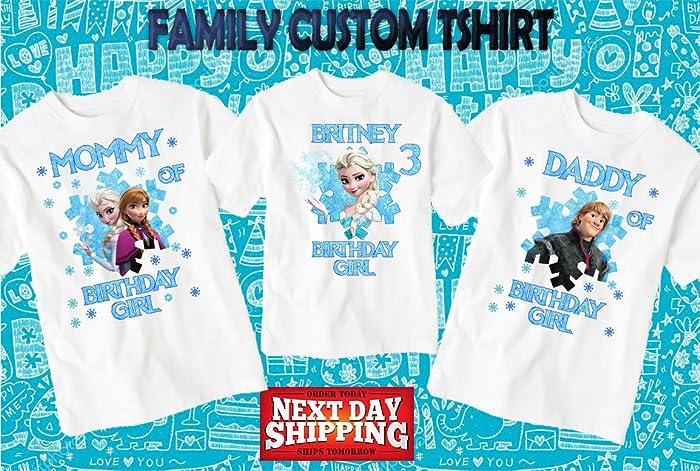 Amazon Frozen Birthday ShirtCustom Shirtpersonalized Custom Shirt Family Shirtbirthday Shirtkids 28 Handmade