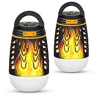 Deals on BATTOP Flickering Flames Outdoor Garden Lantern Flame