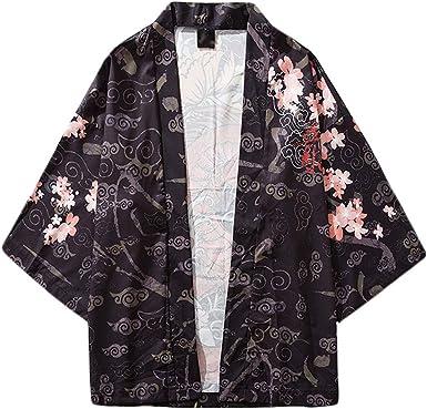 CICIYONER Yukata - Abrigo de Verano japonés, Camiseta Corta ...