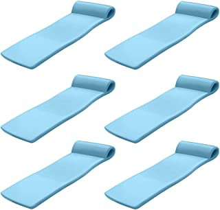 product image for Texas Recreation Sunsation 70 Inch Foam Raft Lounger Pool Float, Blue (6 Pack)
