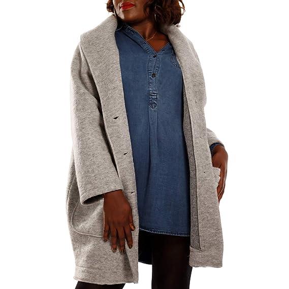 Damen Oversized Jacke Herbst Winter Mantel mit Schalkragen