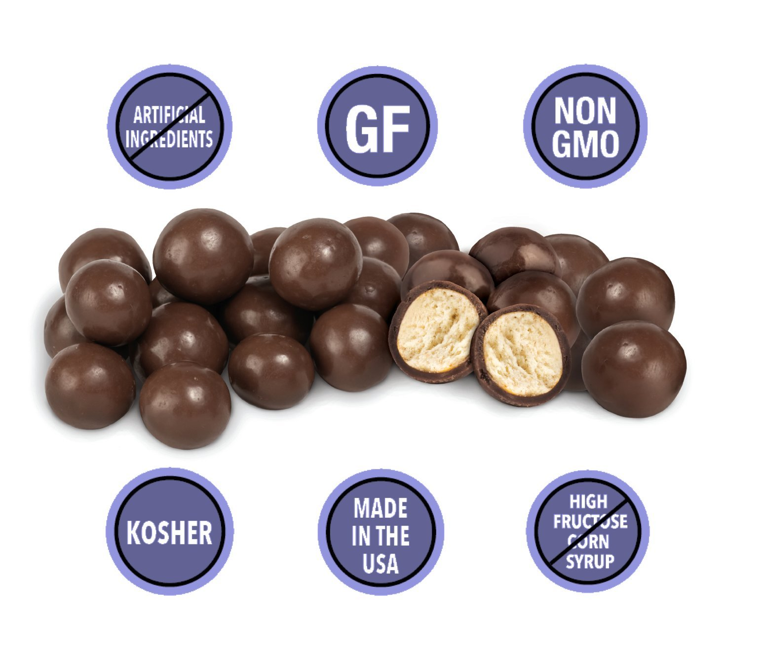 GLUTEN-FREE DARK CHOCOLATE Covered Pretzel Balls (3-Pack) - Lovely Candy Co. (3) 6oz Bags - NON-GMO, NO HFCS, RBST-FREE & Gluten-Free, Consciously crafted in the USA!