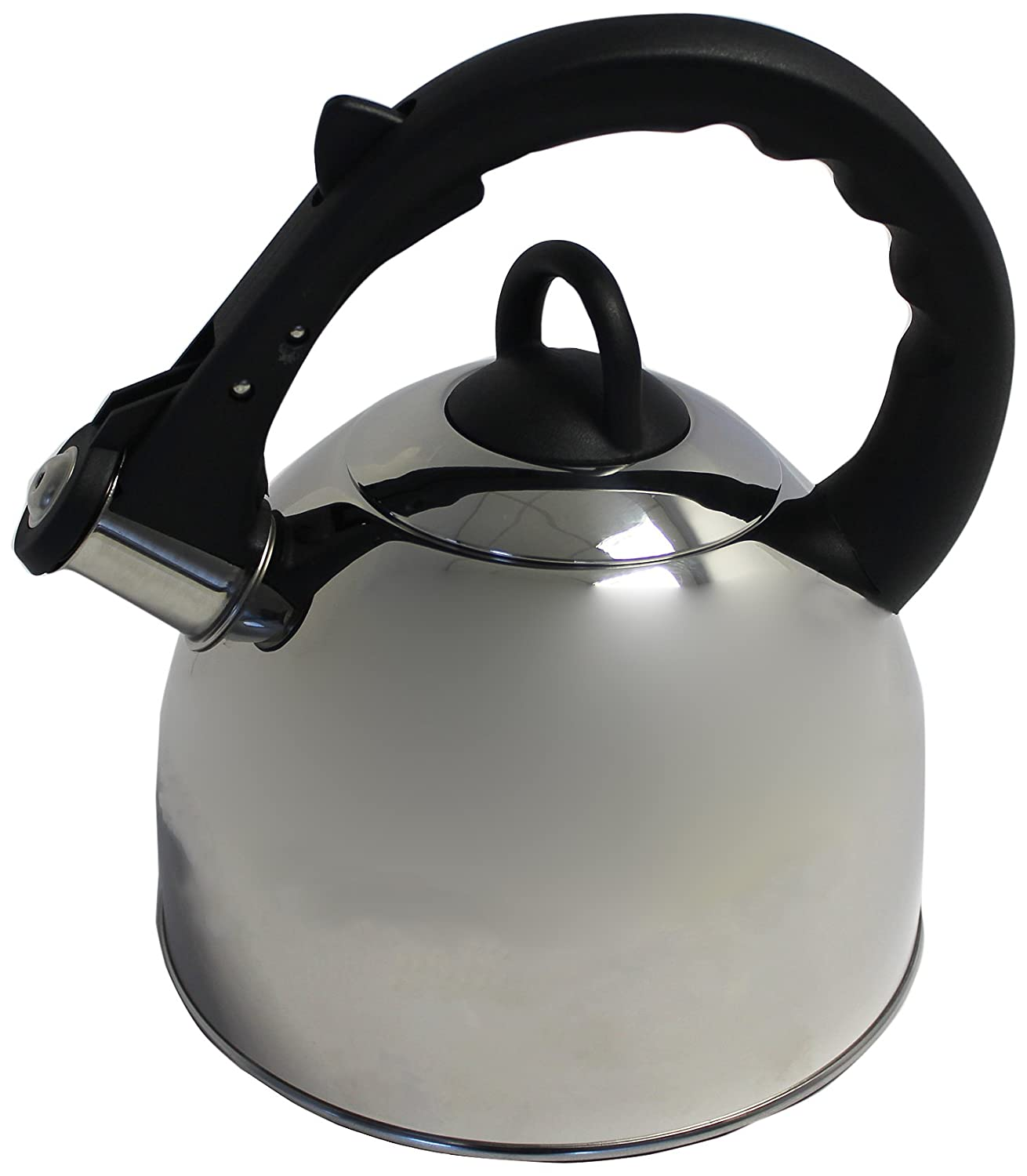 imperial easycook  litre stainless steel whistling kettle with  - imperial easycook  litre stainless steel whistling kettle with bakelitehandle silver and black amazoncouk kitchen  home