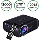 Proiettore LCD 3000 Lumen, TopRui Mini Video Proiettore Portatile per Home Cinema 1080P Full HD,Interfaccia VGA / HDMI / AV / USB / TF, Connessione a TV Stick / Console Giochi /Laptop / MacBook / TV