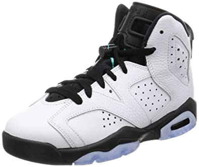 pretty nice 6106a d3dd2 Nike Jordan Kids Air Jordan 6 Retro BG White White Hyper Jade Black  Basketball Shoe 5 Kids US  Amazon.co.uk  Shoes   Bags
