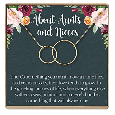 Aunt Quotes From Niece Inspiration Amazon Dear Ava AuntNiece Necklace AuntNiece Gift Aunt