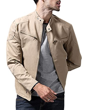 Tanming Men s Business Casual Slim Army Style Cotton Lightweight Jackets at Amazon  Men s Clothing store  a8293d8dd