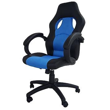 Storaddict Silla para Gaming Silla de Oficina Racing sintética y Malla espacée, Piel, Azul, 84 x 65 x 32 cm: Amazon.es: Hogar