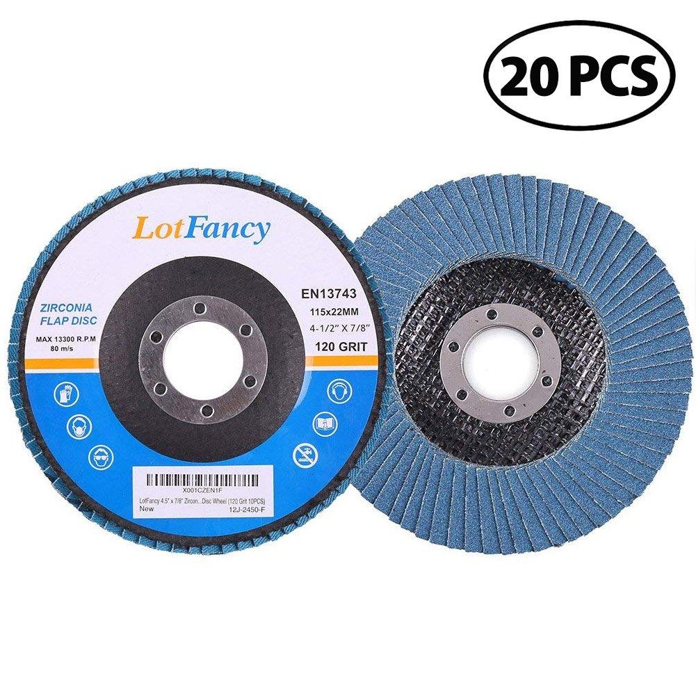 88 Pack Flap Discs Z3-100/% Zirconia 4 1//2,60 Grit,7//8 Arbor Regular 13,300 RPM,T27