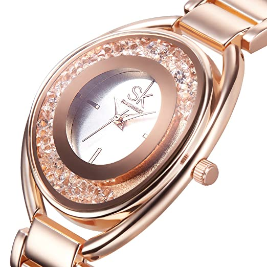 Amazon.com: Designer Womens Watches Rose Gold Quartz Stainless Steel Dress Watch for Women: Watches