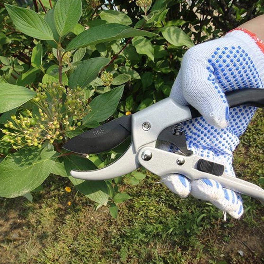Volwco Gartenschere aus japanischem SK5 Stahl,Pflanzenschonende Baumschere mit Bypass-Schneide f/ür /Äste und Zweige