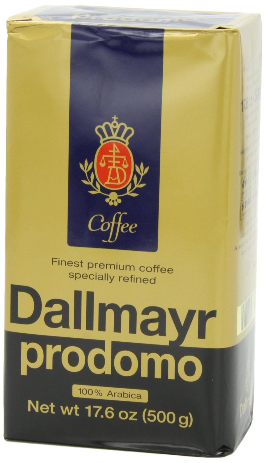 Dallmayr Prodomo Arabica Ground Coffee 17.6oz (6-pack) by Dallmayr