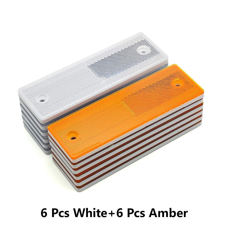 Kit 3//Yellow+Red MFC PRO 6 Rectangular Stick-on//Screw Mount Reflectors