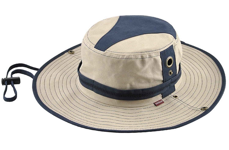 KeepSa Sombrero de verano para hombre, visera de algodón, sombrero de pescador, escalada al aire libre, beige: Amazon.es: Deportes y aire libre