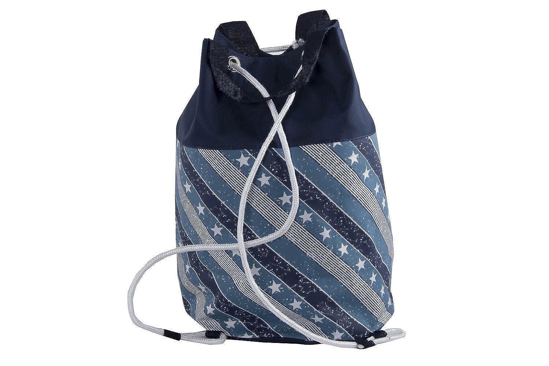 Borsa mare piscina donna GIANMARCO VENTURI blu sacca zaino a spalla VV36   Amazon.it  Abbigliamento a7ef5d8380a