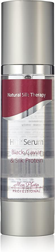 Terapia de seda natural Mon Platin Profesional 100ml Negro Caviar y proteína de seda Serum Cabello
