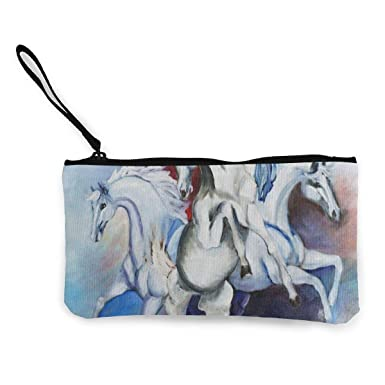 Amazon.com: Monedero de lienzo con diseño de unicornio de ...