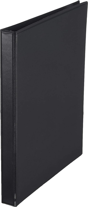 AmazonBasics 1/2-Inch Round Ring Binder, Black, View, 12-Pack