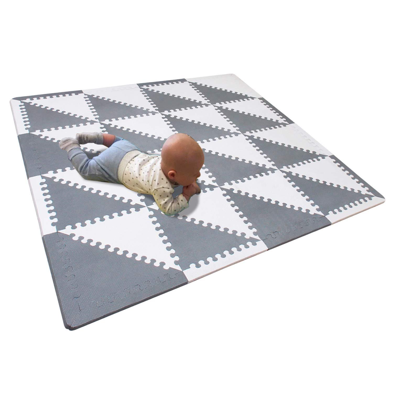Certificato CE Tappeto Moderno Salotto 006B 9 Pezzi BUCHAQIAN Tappeto Bambini Puzzle con Tappeto da Gioco Lavabile 30X30cm Spessore 1cm