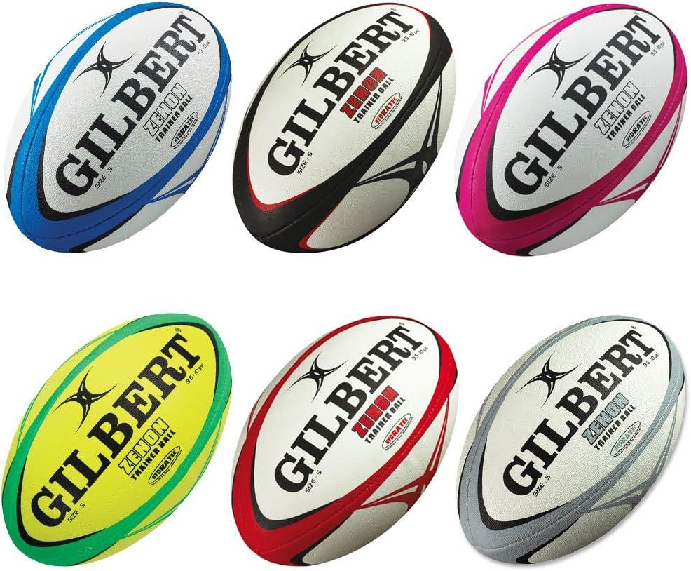 Gilbert Zenon - Balón de Entrenamiento de Rugby Noir/Rouge Talla ...