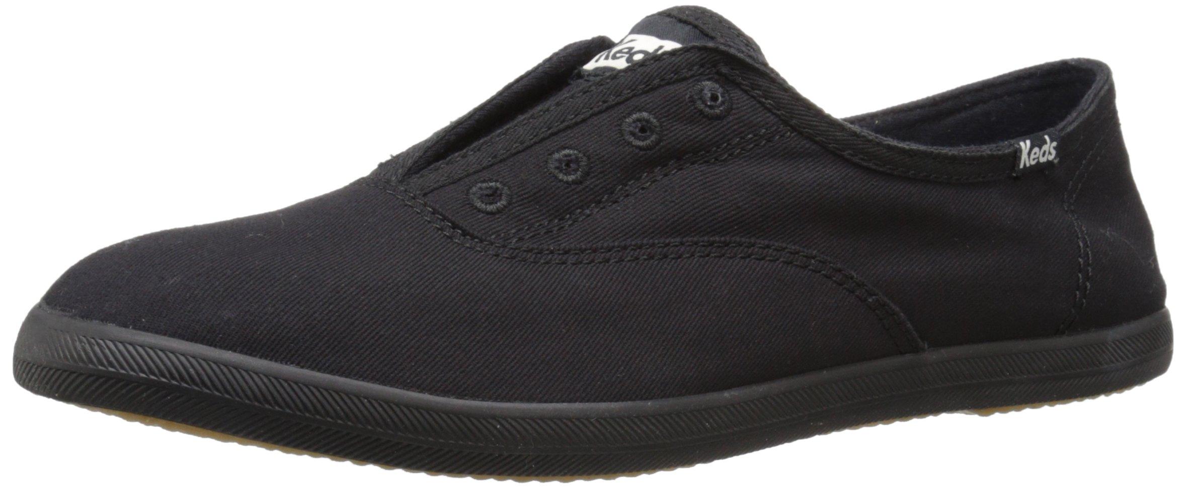 Keds Women's Chillax Fashion Sneaker, Black/Black, 5.5 M US