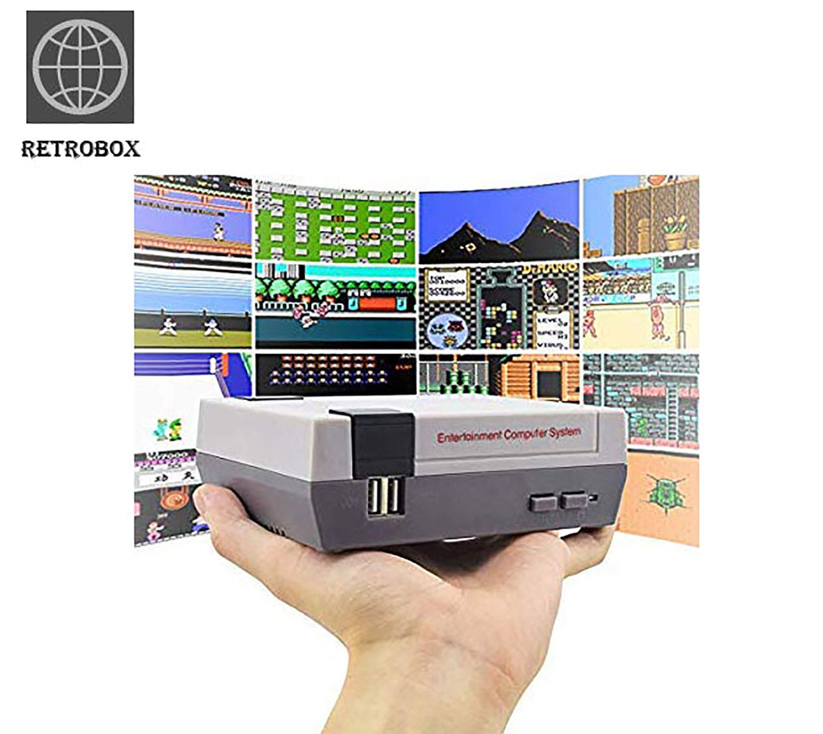 Retro Classic Game Console Retro Childhood Game Classic Game Consoles Built-in 620 Childhood Classic Game Dual Control 8-Bit Console Handheld Game Player Console for Classic Games Family TV Video by RetroBox (Image #2)