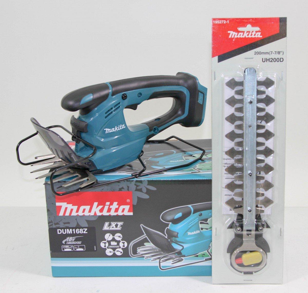Makita DUM168Z 18V Akku-Grasschere inkl. UH200D Strauchscheren-Aufsatz