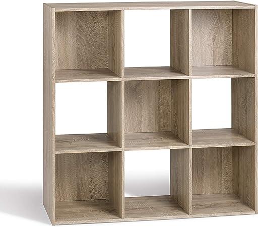 Compo Er Meuble De Rangement 9 Casiers Bibliotheque Etageres Cubes Chene 92 X 29 5 X 92 Cm Amazon Fr Cuisine Maison