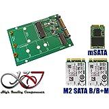 kalea-informatique rmatique Adattatore M.2(NGFF) e/o MiniPCIe mSATA a SATA 3, ideale per il recupero dei dati